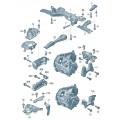 Детали крепления для двигателя и КП
