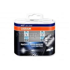 Галогенная лампа Н7 для Skoda Rapid, Osram Night Breaker Unlimited