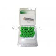 Колпачки (20 шт.) для колесных болтов Skoda Rapid, зеленые
