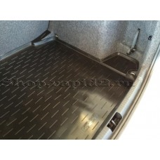 Коврик в багажник (полимер, сред. борт) Skoda Rapid, Aileron