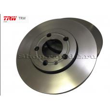 Диск тормозной передний для Skoda Rapid, TRW DF4027