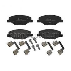 Колодки тормозные передние для Skoda Rapid CFNA 1,6 (105 л.с.), BREMBO P85121