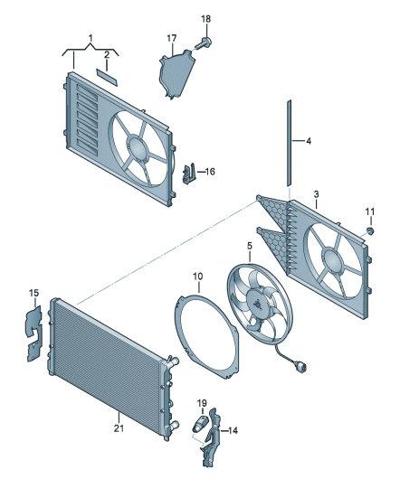 Рамка вентилятора. Воздуховод