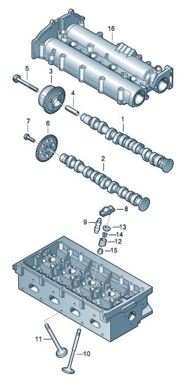 Распределительный вал, клапаны