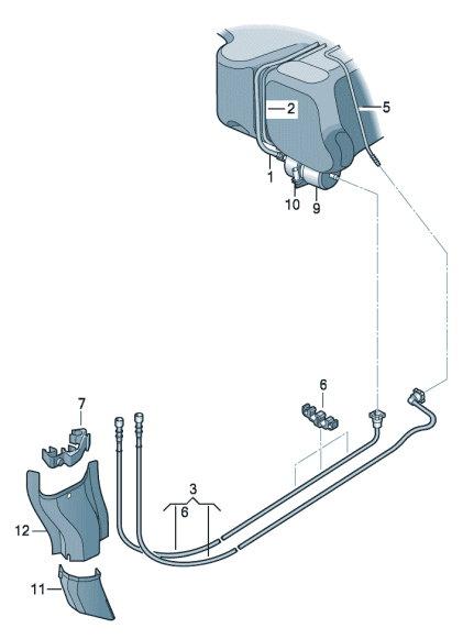 Топливопровод. Топливный фильтр Skoda Rapid